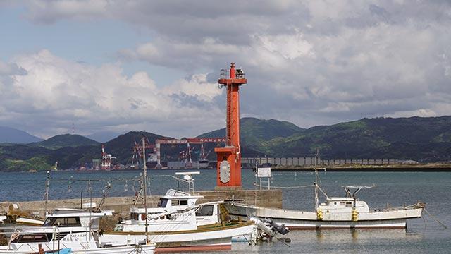 伊万里港浦ノ崎防波堤灯台-2