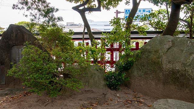 唐津神社の詩織と愛の場所