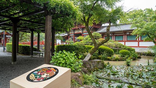 祐徳稲荷神社の藤棚と桜門