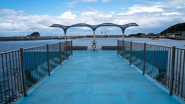 水色の桟橋