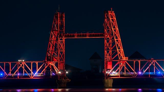 筑後川昇開橋をアップ
