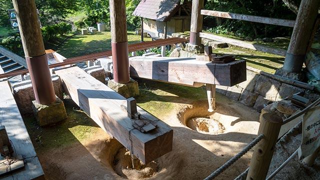 鍋島藩窯公園・大川内山の唐臼おの建物内