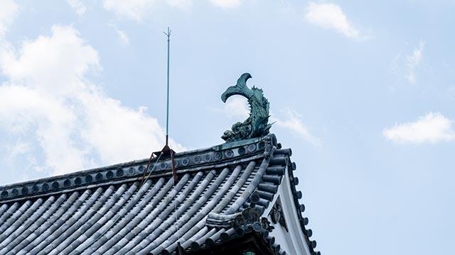 鯱の門の屋根