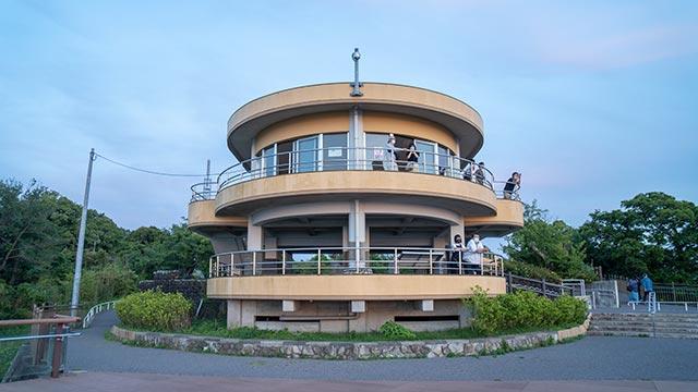 鏡山の展望台