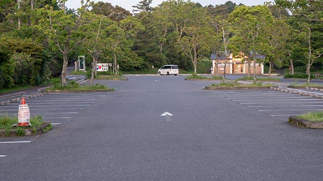 鏡山の駐車場