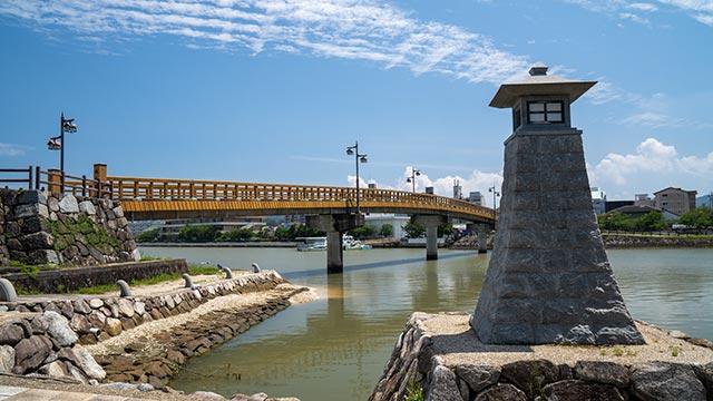 船入門跡と城内橋