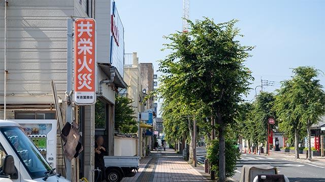 唐津駅前の交差点