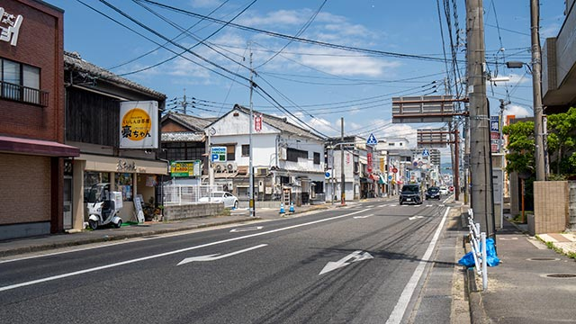 片田江北バス停付近