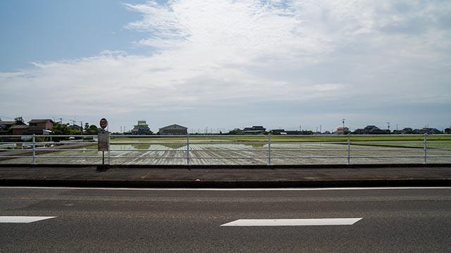 江北学校入口バス停付近