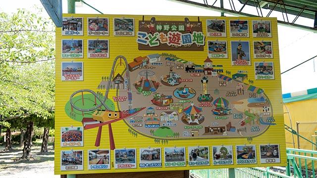 神野公園のこども遊園地マップ