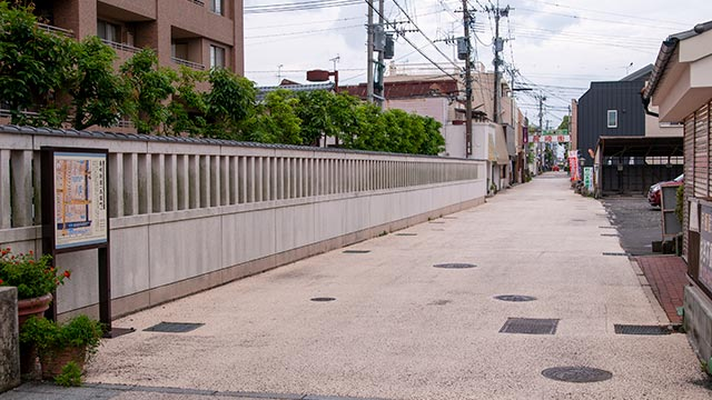 長崎街道(佐賀城下の呉服町)