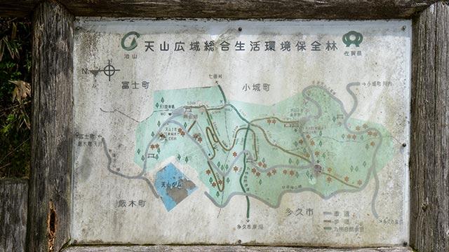 天山登山マップ