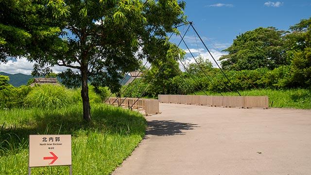 吉野ヶ里歴史公園アンダーパスの上